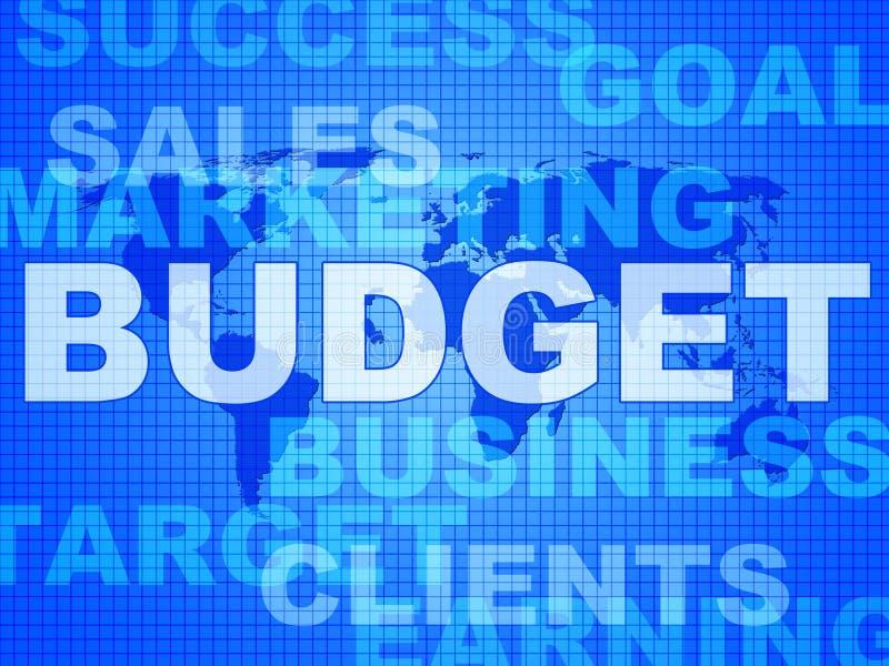 Κόστος και χρήματα Bill μέσων λέξεων προϋπολογισμών ελεύθερη απεικόνιση δικαιώματος