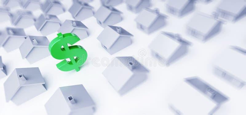 Κόστος της ακίνητης περιουσίας σε δολάρια ελεύθερη απεικόνιση δικαιώματος