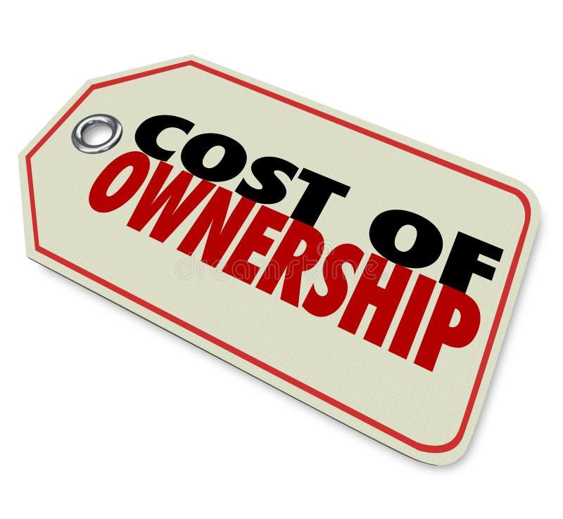 Κόστος της καλής επένδυσης ROI αξίας τιμών ιδιοκτησίας διανυσματική απεικόνιση