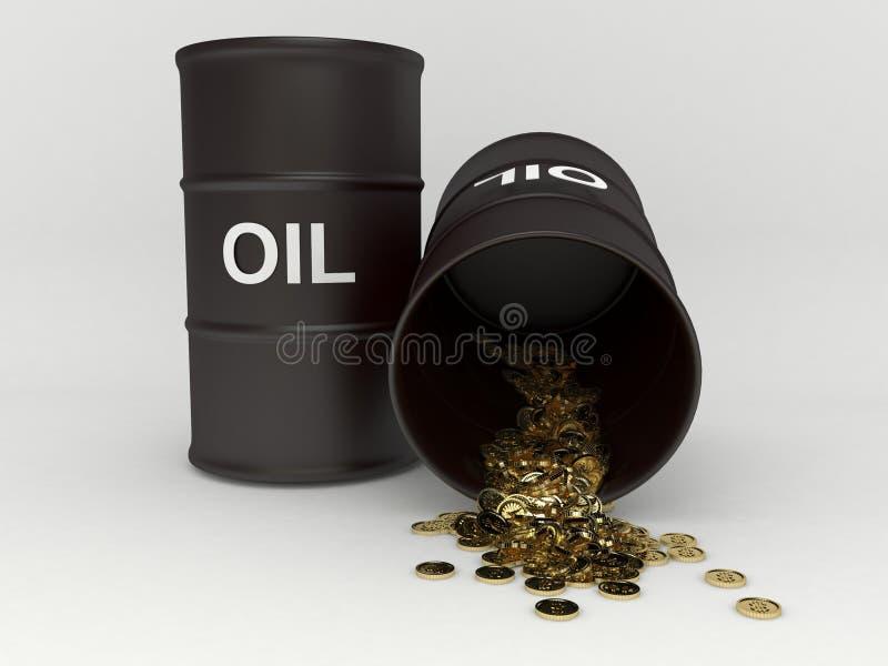 Κόστος του βαρελιού πετρελαίου διανυσματική απεικόνιση
