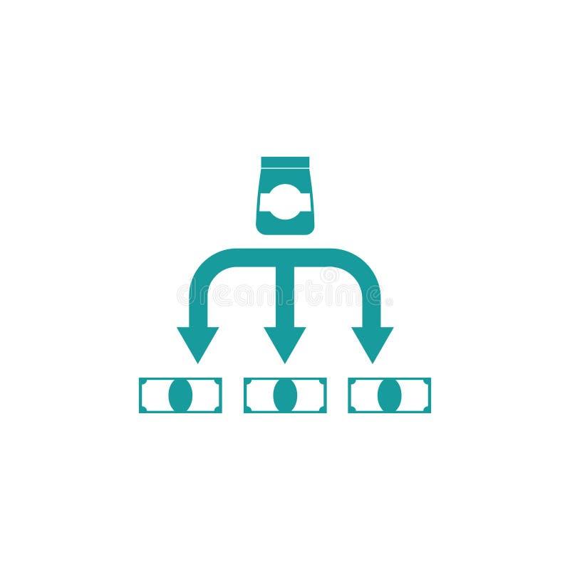 Κόστος του εικονιδίου αγαθών Σημάδι επιχειρησιακής χρηματοδότησης διανυσματική απεικόνιση
