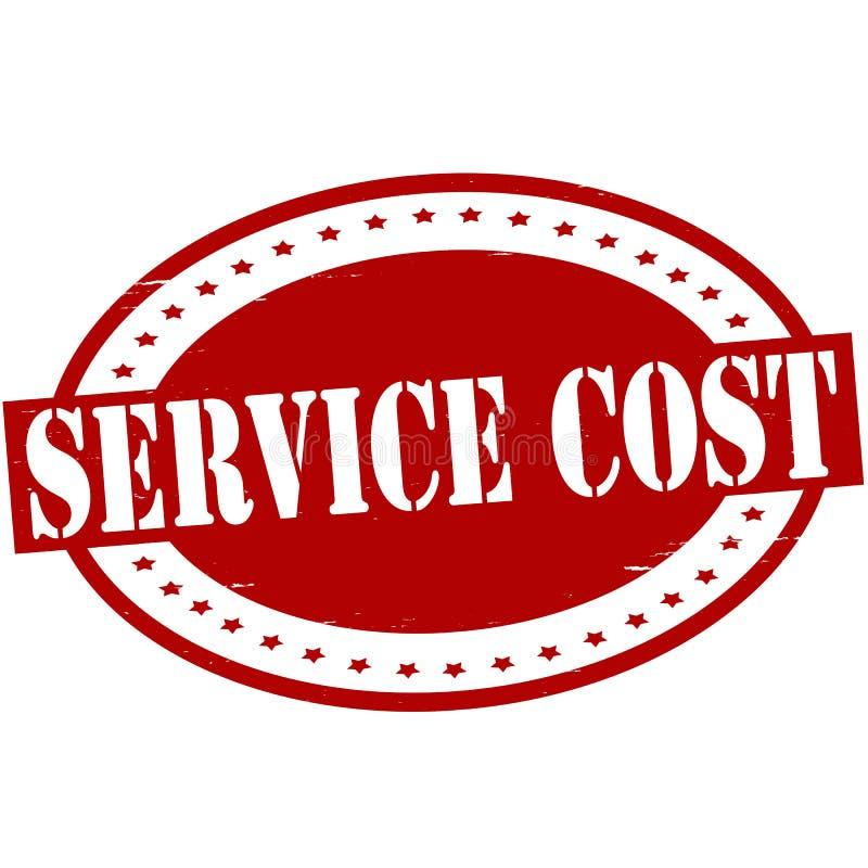 Κόστος υπηρεσιών διανυσματική απεικόνιση