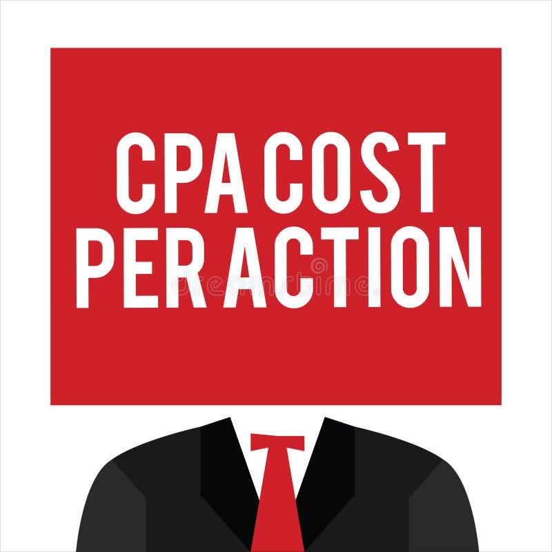 Κόστος Cpa κειμένων γραφής ανά δράση Η έννοια που σημαίνει την Επιτροπή πλήρωσε πότε ο χρήστης χτυπά σε μια σύνδεση θυγατρικών απεικόνιση αποθεμάτων