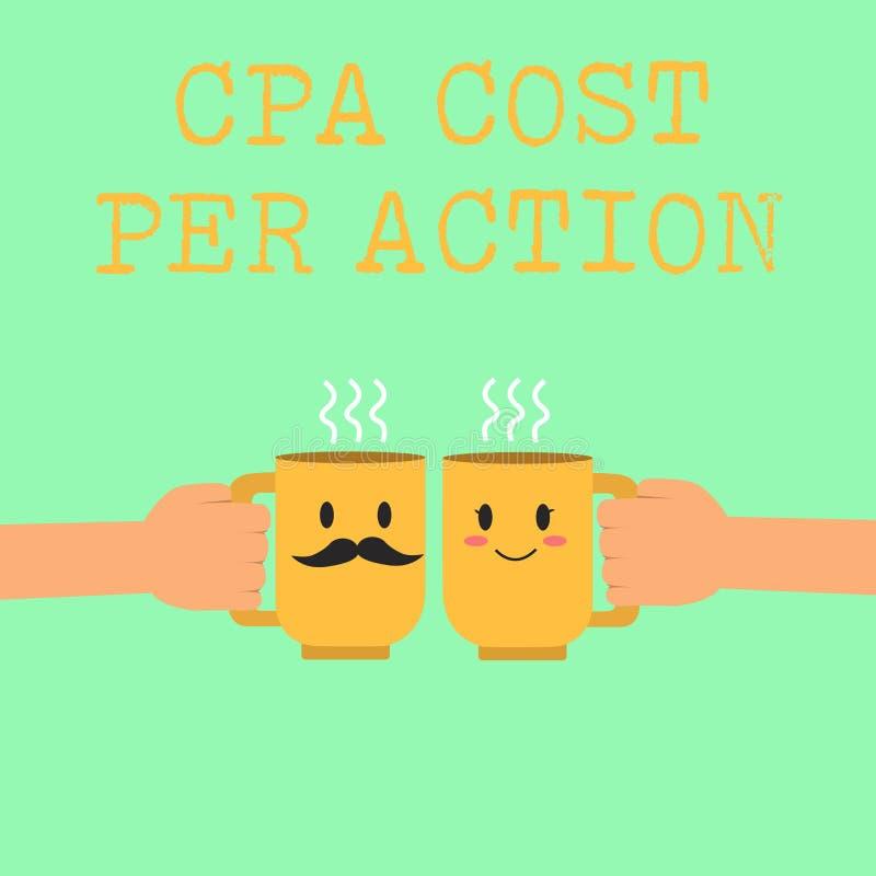 Κόστος Cpa κειμένων γραψίματος λέξης ανά δράση Η επιχειρησιακή έννοια για την Επιτροπή πλήρωσε πότε ο χρήστης χτυπά σε μια σύνδεσ ελεύθερη απεικόνιση δικαιώματος