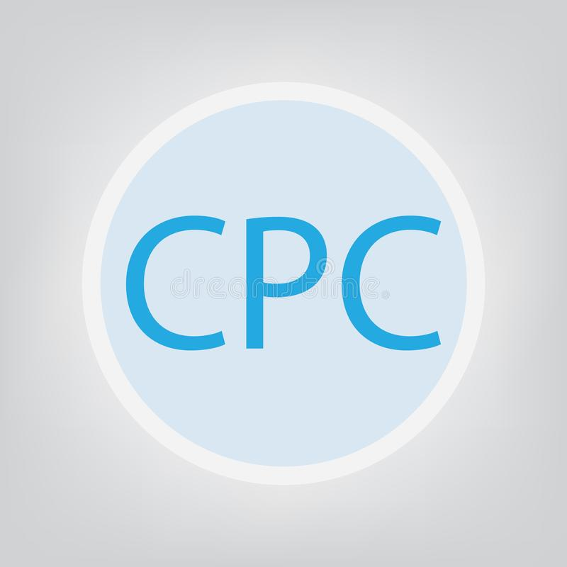 Κόστος CPC ανά έννοια κρότου διανυσματική απεικόνιση