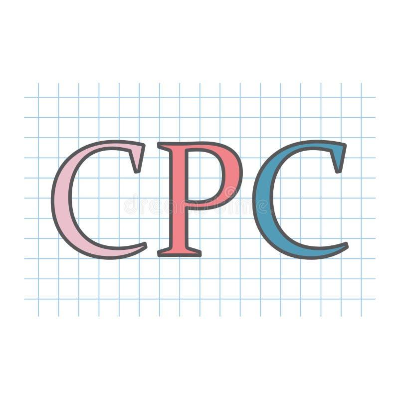 Κόστος CPC ανά κρότο που γράφεται στο ελεγμένο φύλλο εγγράφου απεικόνιση αποθεμάτων