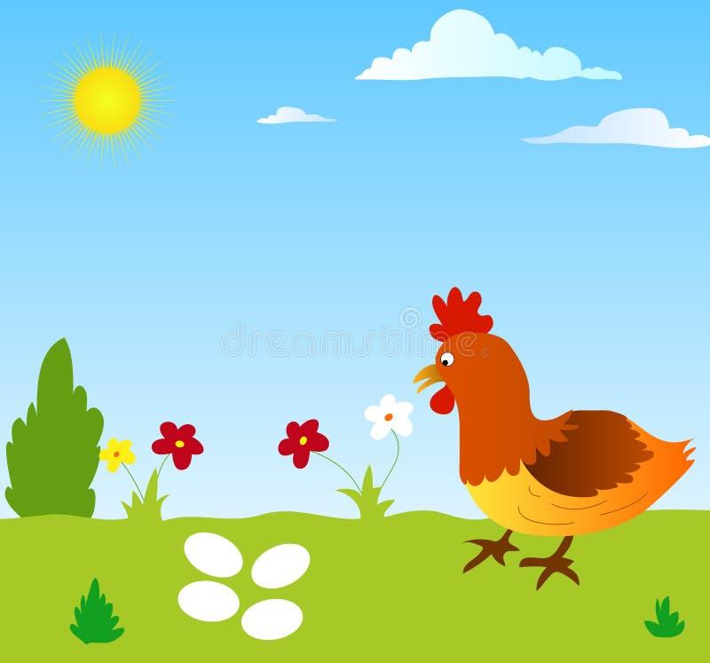 κότα αυγών ελεύθερη απεικόνιση δικαιώματος