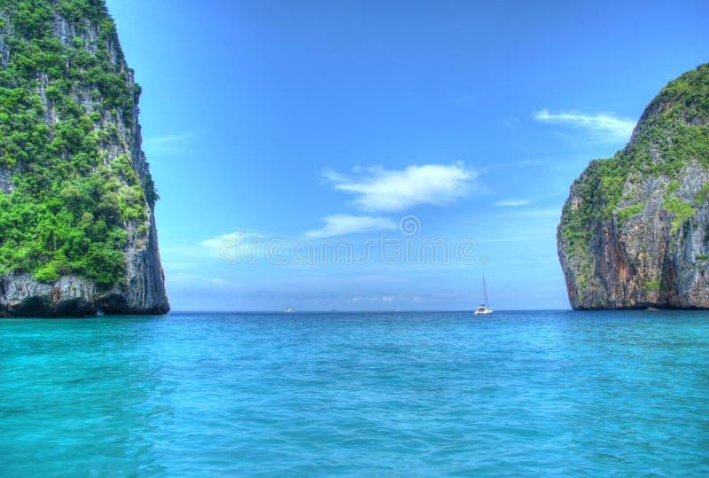 Κόλπος μαρινών, phuket στοκ εικόνες