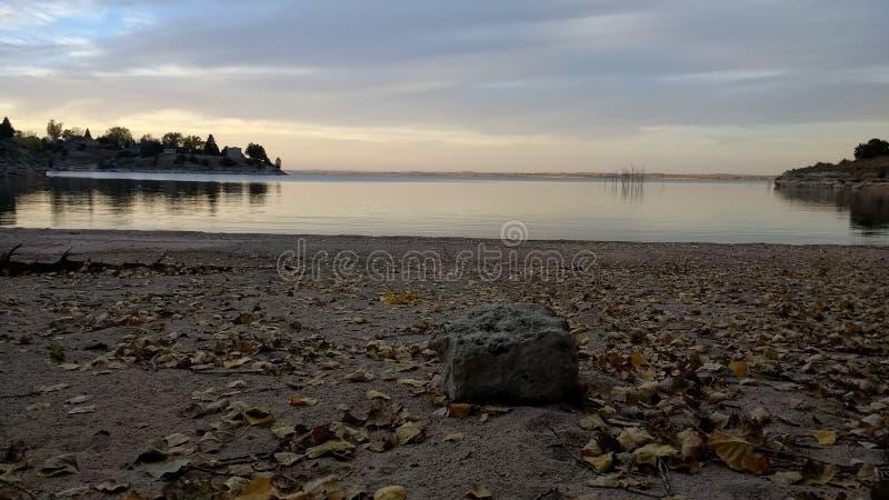 Κόλπος της Νεμπράσκας πτώσης άμμου λιμνών στοκ εικόνες