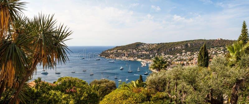 Κόλπος του Villefranche-sur-Mer, υπόστεγο δ ` Azur, Γαλλία στοκ εικόνες με δικαίωμα ελεύθερης χρήσης