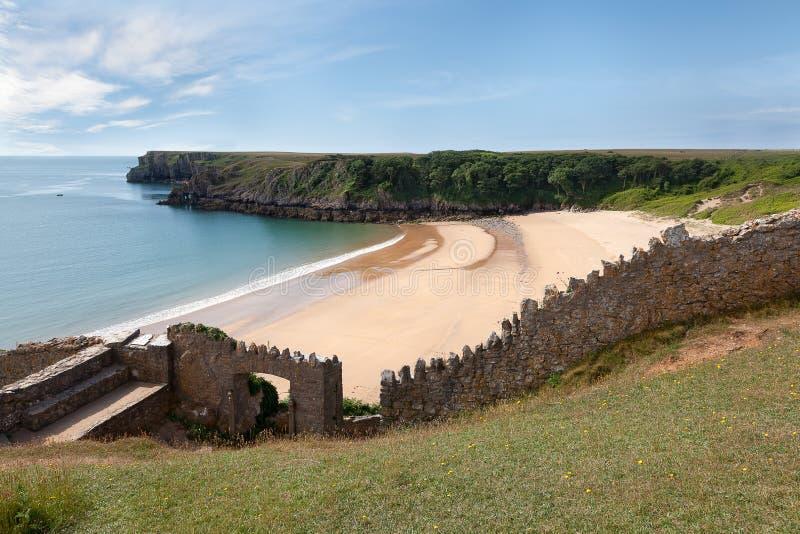 Κόλπος Barafundle, απομονωμένη παραλία στην Ουαλία στοκ εικόνα με δικαίωμα ελεύθερης χρήσης
