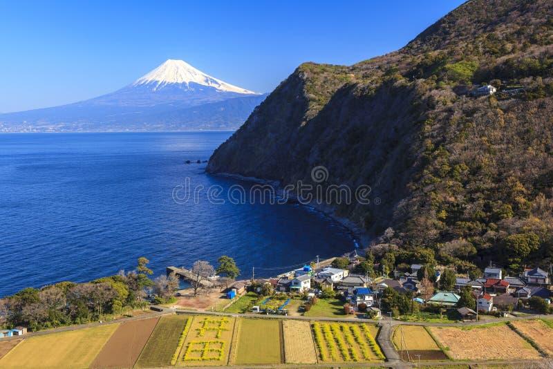 Κόλπος Suruga και ΑΜ fuji στοκ φωτογραφία με δικαίωμα ελεύθερης χρήσης