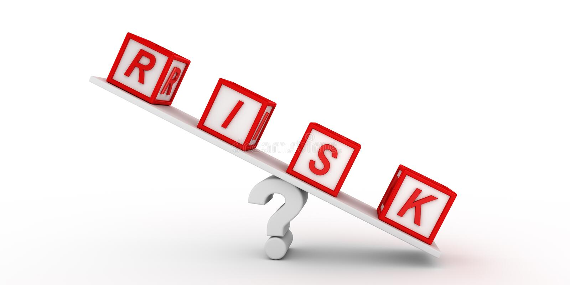 Κύβοι κινδύνου που ισορροπούν στην ερώτηση τρισδιάστατη απόδοση διανυσματική απεικόνιση