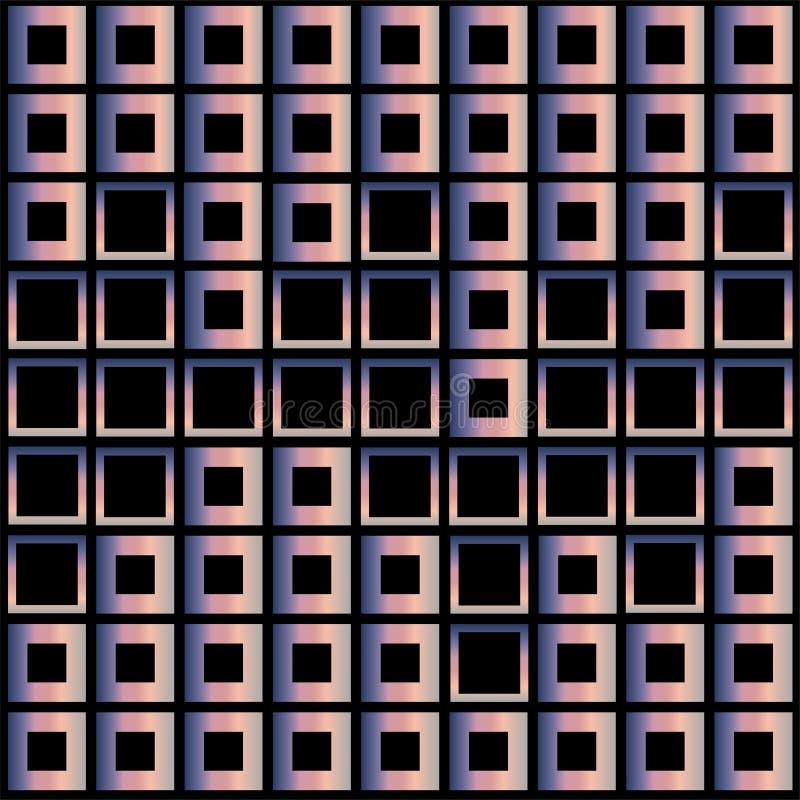 Κύβοι μωσαϊκών στο χρώμα κρητιδογραφιών απεικόνιση αποθεμάτων