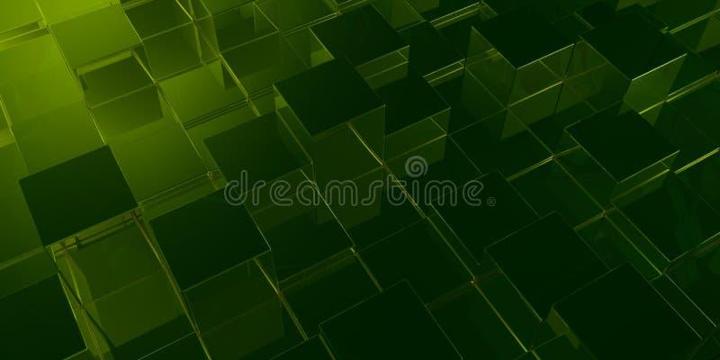 κύβοι πράσινοι διανυσματική απεικόνιση