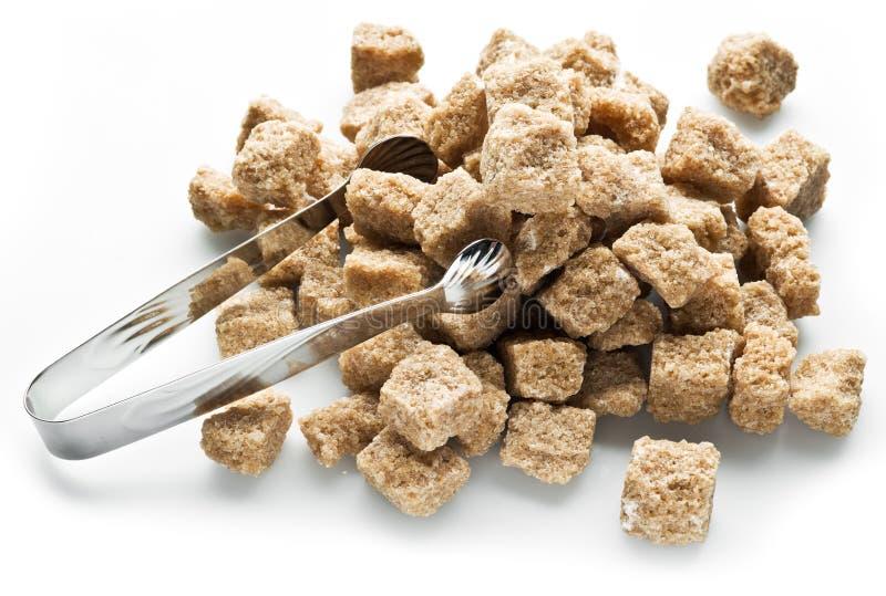 Κύβοι της ζάχαρης καλάμων στοκ εικόνες