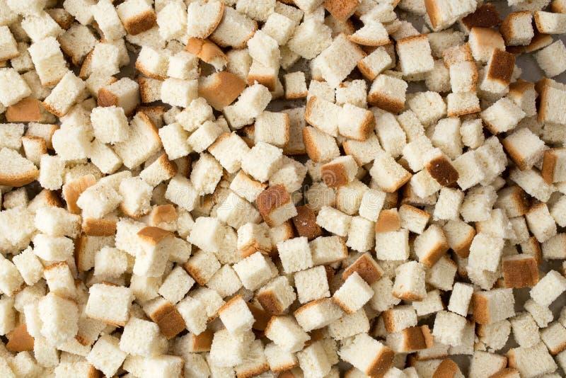 Κύβοι του ψωμιού για το γέμισμα στοκ φωτογραφίες