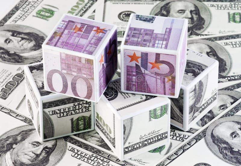 Κύβοι των χρημάτων στοκ φωτογραφίες με δικαίωμα ελεύθερης χρήσης