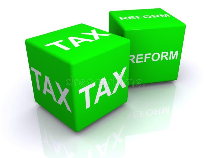 Κύβοι φορολογικής μεταρρύθμισης απεικόνιση αποθεμάτων