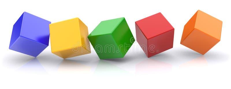 κύβοι διανυσματική απεικόνιση