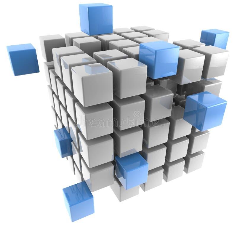 κύβος διαστατικά τρία διανυσματική απεικόνιση