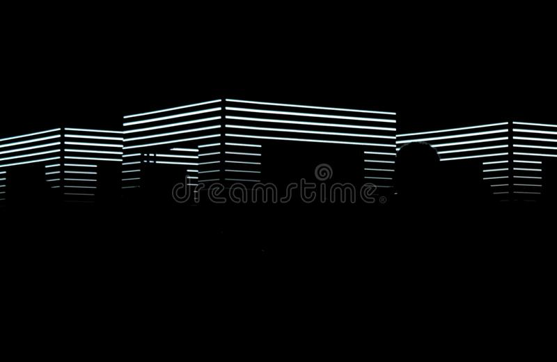Κύβος νύχτας στο φεστιβάλ σημάτων στοκ φωτογραφίες με δικαίωμα ελεύθερης χρήσης