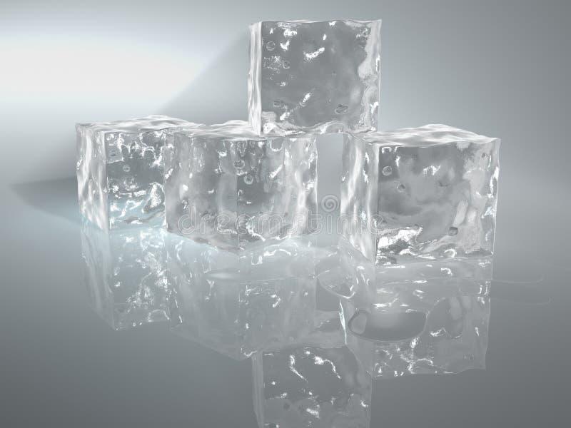 Κύβος 2 πάγου στοκ εικόνες