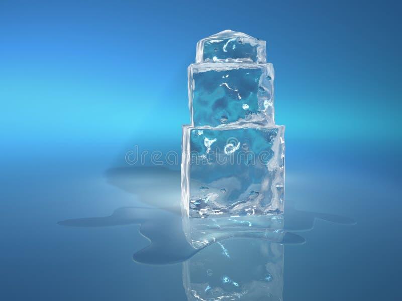 Κύβος 4 πάγου στοκ φωτογραφίες