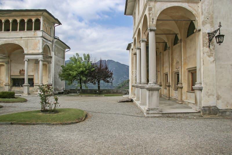 Κύβος Varallo Monte Sacro στοκ φωτογραφίες