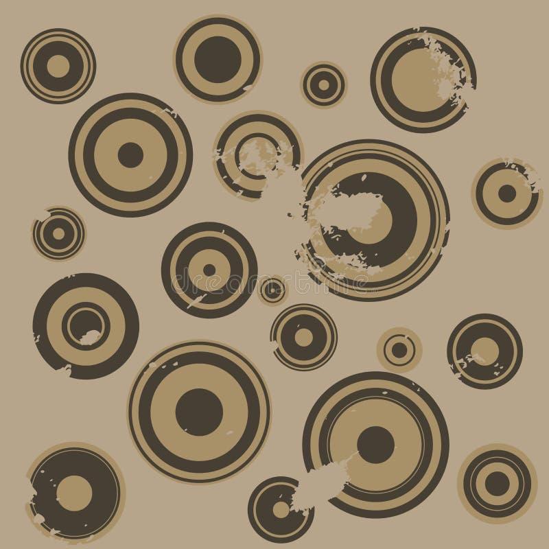 κύκλος ανασκόπησης grunge διανυσματική απεικόνιση
