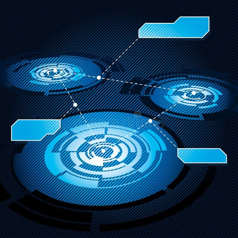 κύκλος διαγραμμάτων διανυσματική απεικόνιση