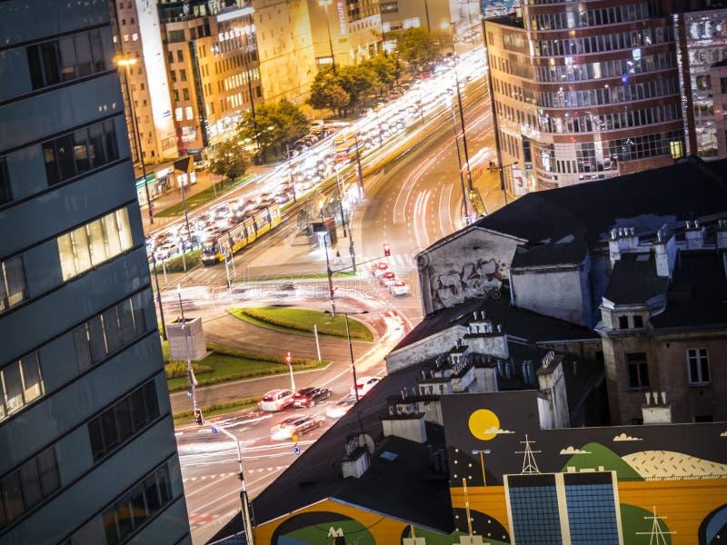 Κύκλος κυκλοφορίας στη Βαρσοβία - την Πολωνία στοκ φωτογραφίες με δικαίωμα ελεύθερης χρήσης