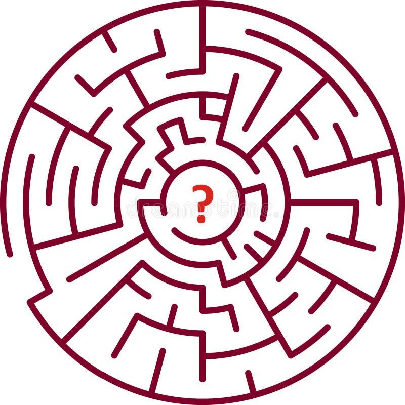 κύκλος λαβυρίνθου απεικόνιση αποθεμάτων