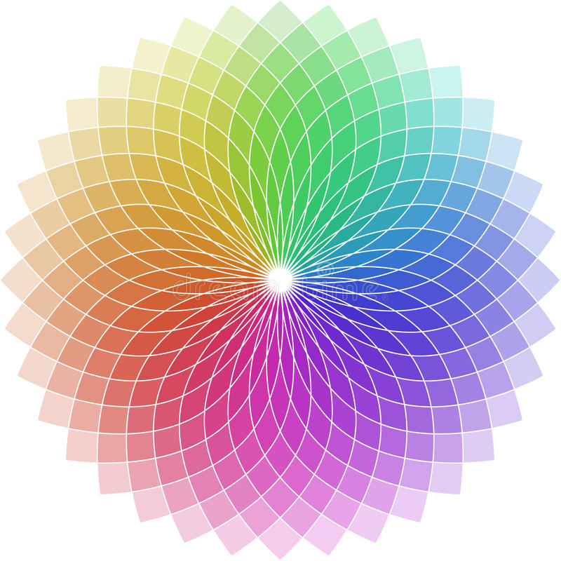 κύκλος που διαμορφώνεται χρωματικός διανυσματική απεικόνιση
