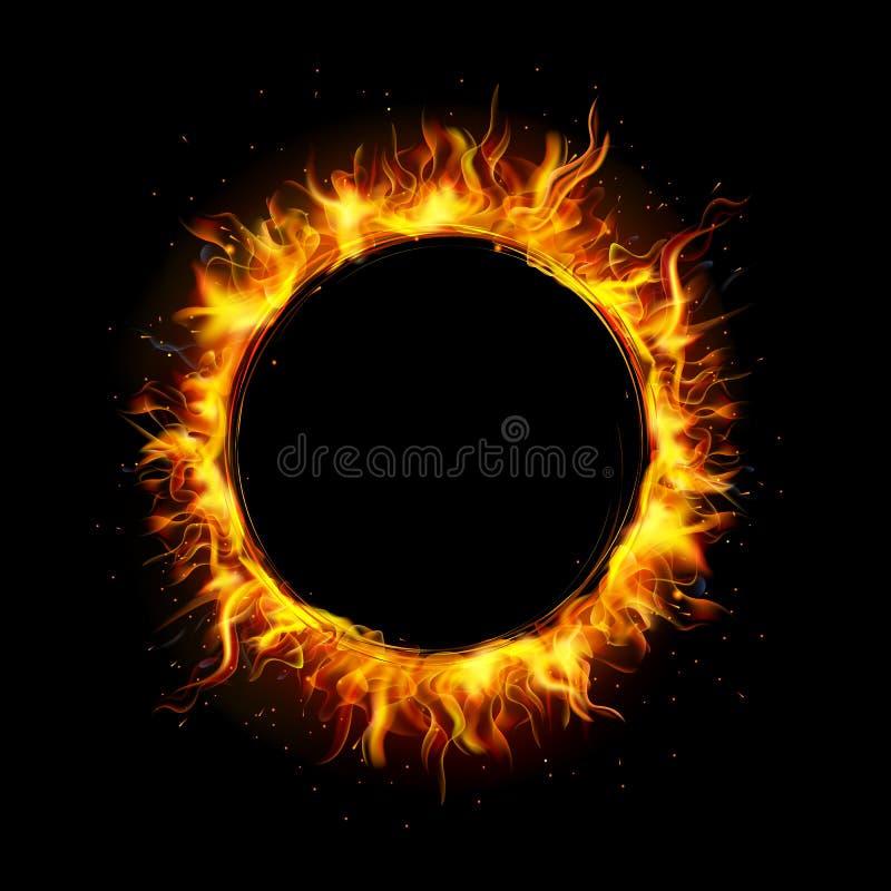 Κύκλος πυρκαγιάς διανυσματική απεικόνιση
