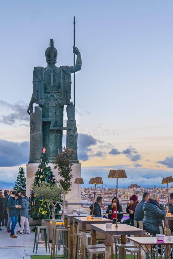 Κύκλος του φραγμού Καλών Τεχνών, Μαδρίτη, Ισπανία στοκ εικόνα