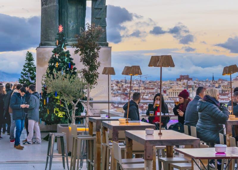 Κύκλος του φραγμού Καλών Τεχνών, Μαδρίτη, Ισπανία στοκ εικόνα με δικαίωμα ελεύθερης χρήσης