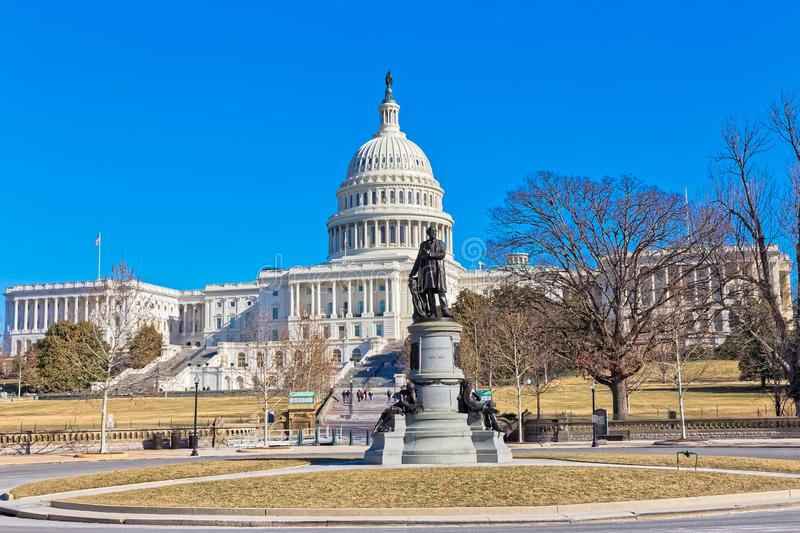 Κύκλος του James Garfield στο Washington DC ΗΠΑ στοκ εικόνα με δικαίωμα ελεύθερης χρήσης