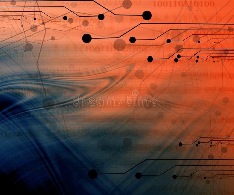 Κύκλωμα υπολογιστών διανυσματική απεικόνιση