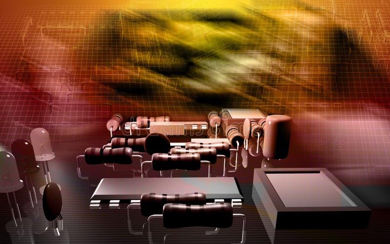κύκλωμα χαρτονιών ηλεκτρικό απεικόνιση αποθεμάτων