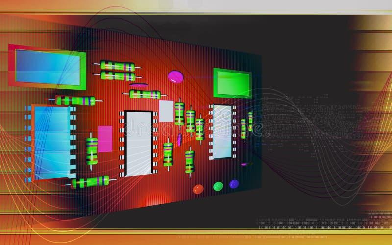 κύκλωμα χαρτονιών ηλεκτρ&i ελεύθερη απεικόνιση δικαιώματος