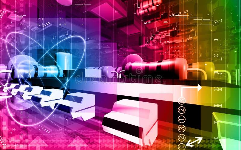 κύκλωμα χαρτονιών ηλεκτρ&i απεικόνιση αποθεμάτων
