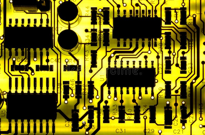 Download κύκλωμα χαρτονιών στοκ εικόνα. εικόνα από υπολογιστής, κίτρινος - 381185
