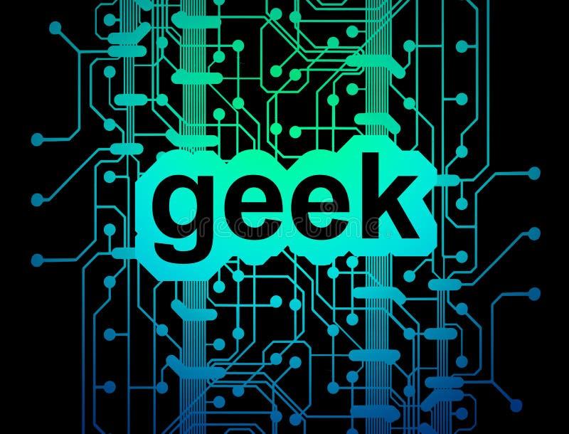 κύκλωμα χαρτονιών geek απεικόνιση αποθεμάτων