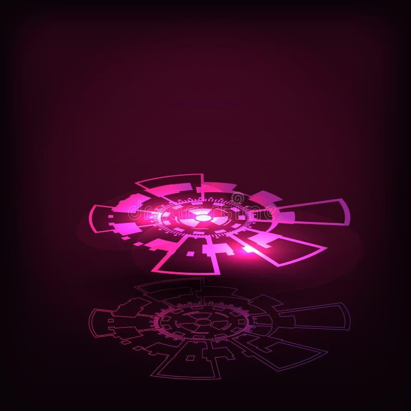 κύκλοι τεχνολογία φουτουριστική διαπροσωπεία απεικόνιση αποθεμάτων