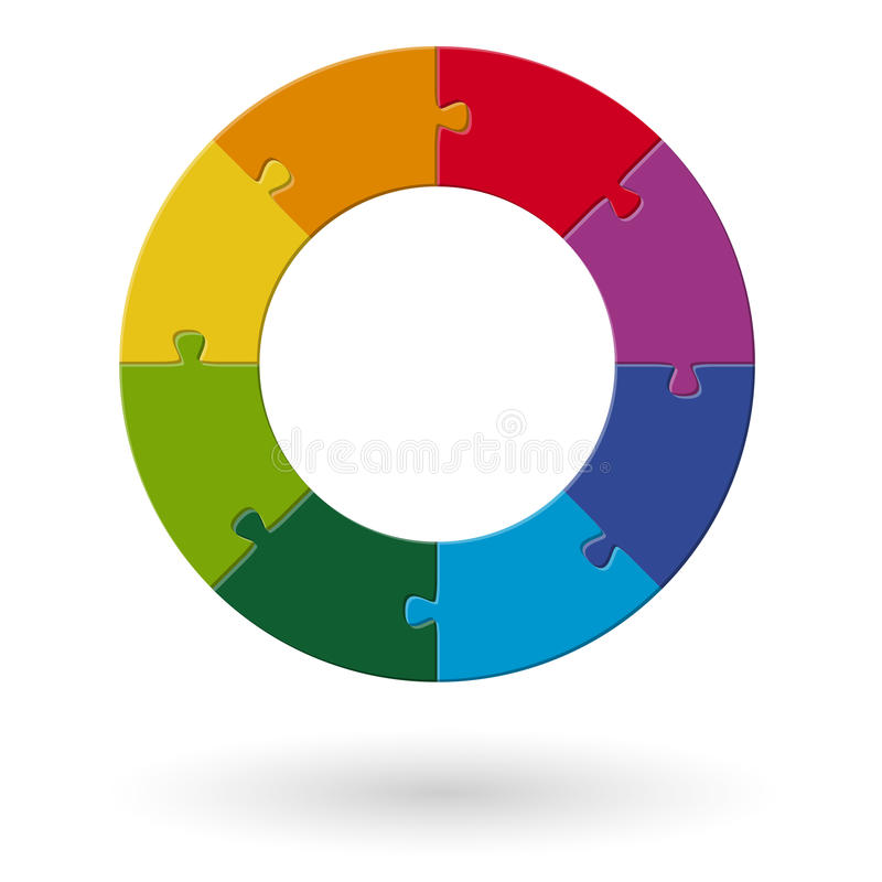 Κύκλος γρίφων - 8 μέρη διανυσματική απεικόνιση