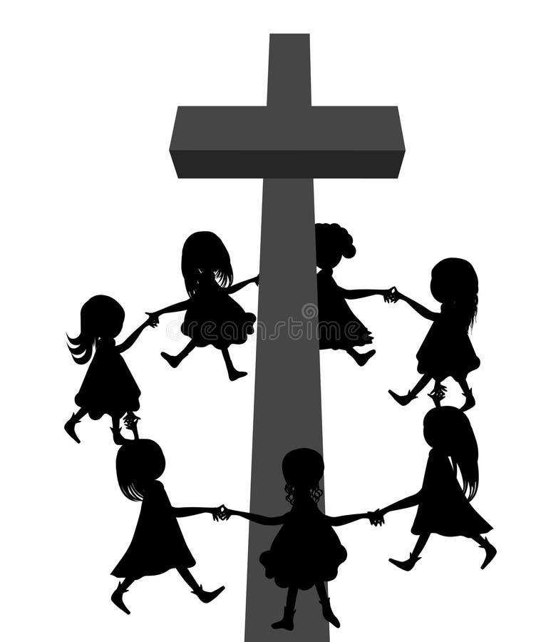 Κύκλος γύρω από το σταυρό απεικόνιση αποθεμάτων