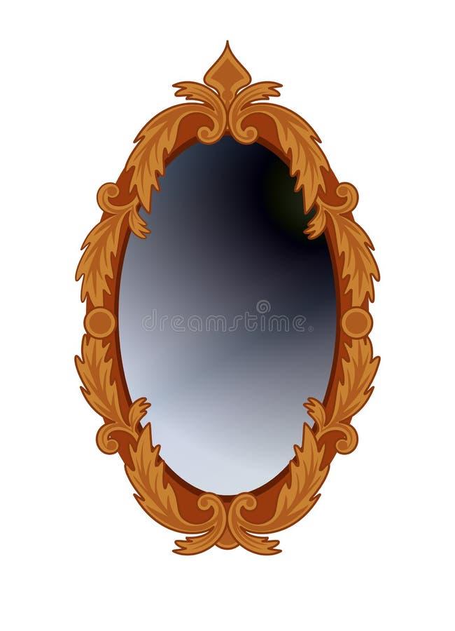 κύκλος καθρεφτών διανυσματική απεικόνιση