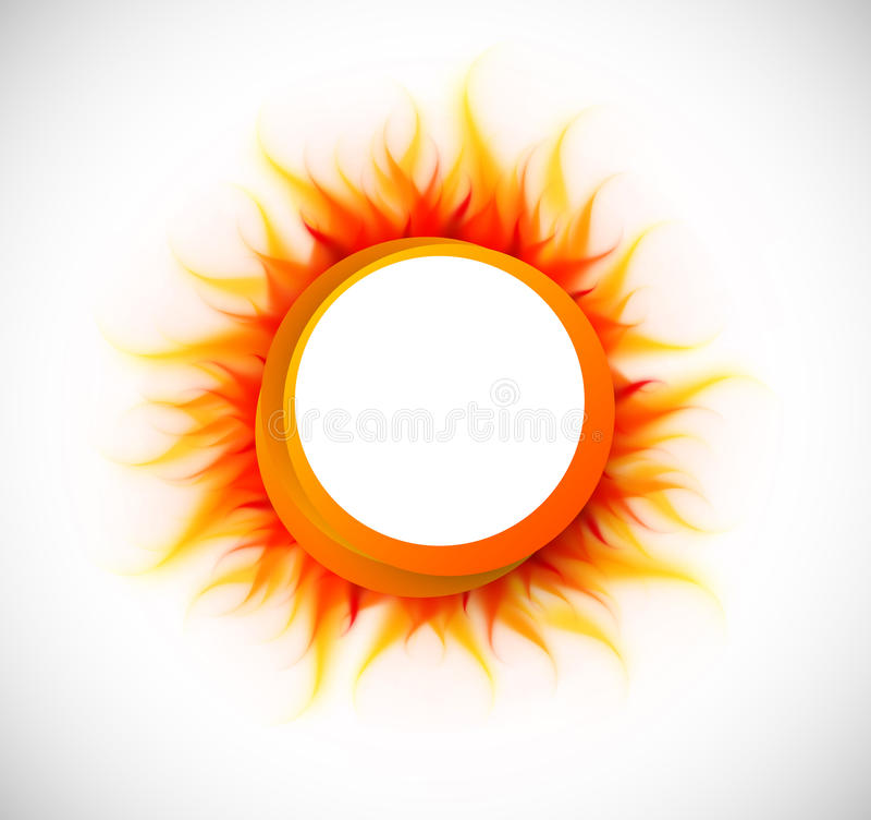 Κύκλος με τη φλόγα διανυσματική απεικόνιση