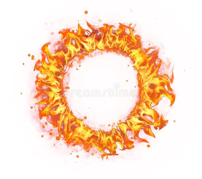 Κύκλος πυρκαγιάς που απομονώνεται στο άσπρο υπόβαθρο στοκ φωτογραφία με δικαίωμα ελεύθερης χρήσης